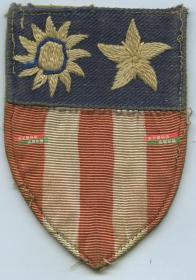 1940年代在中国大西南云南贵州重庆一带参加抗日战争的美国援华空军飞行员臂章
