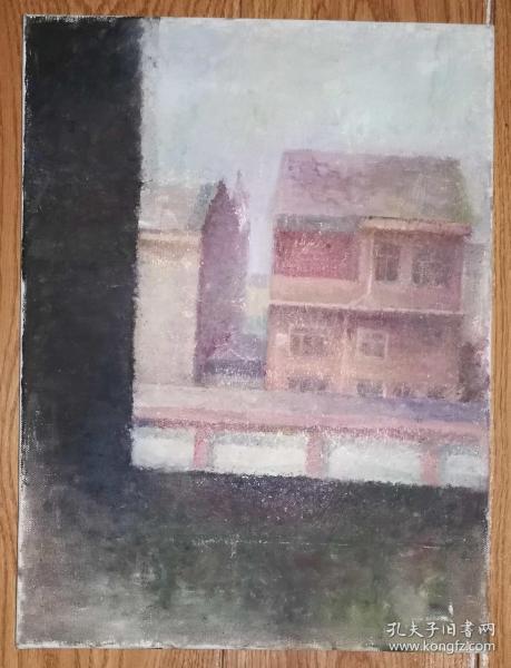 手绘布面油画:无款20190823-12(风景 40x30 已绷框)