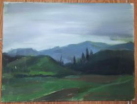 手绘布面油画:无款20190823-19(风景 40x30 已绷框)
