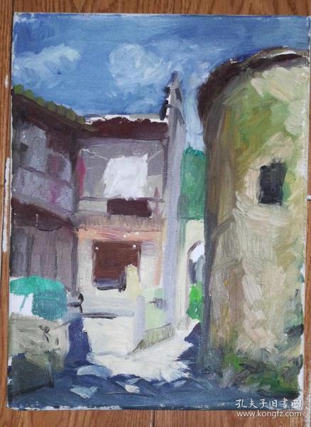 手绘布面油画:无款20190823-21(风景 40x30 已绷框)