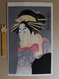 浮世繪 木版畫 手摺 東洲齋寫樂 集版社 大判錦繪 限500之68