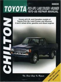 Toyota Pick-ups, Land Cruiser, and 4-Runner, 1970-88 (Chilton Total Car Care Series Manuals)-丰田皮卡,陆地巡洋舰,和4-Runner,1970-88(Chilton Total Car Car Car Car Series手册)
