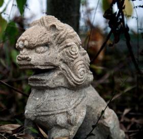 清代汉白玉石雕狮子 清代老石雕 老石头 老石刻 老摆件 汉白玉石雕刻 包老保真正品