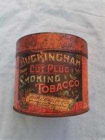 民国时期英国bvgrngham公司生产香烟铁皮盒12*9.7