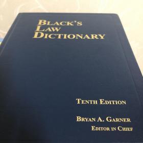 Black's Law Dictionary 10th Edition 《布莱克法律大词典》第10版 英文原版