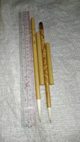 老毛笔;早期竹帽《玉兰蕊》与《大白云》。湖笔