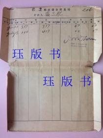 民国,1937年,沧县邮政储金汇业局,1张,有英文人名印章,不认识
