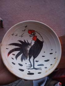 瓷盘子一个,年代未知,价格不高,售出不退。