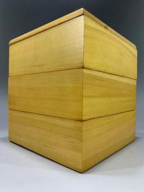 日本老货,实木大漆叠盒