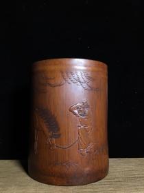 竹雕手工雕刻笔筒
