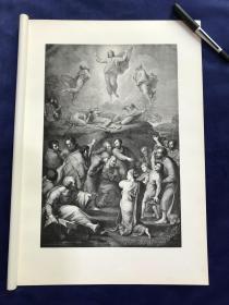 1876年感光制版铜版画《基督变容图》—文艺复兴三杰之拉斐尔( Raphael,1483-1520年)名作 45.2*31.4厘米