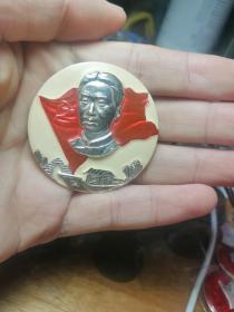 毛主席像章,毛主席是我们党的缔造者,中共一大会址嘉兴南湖红船像章,嘉兴南湖红船经典章,漂亮的彩章