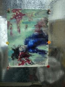 著名旅法油画家郝岩作品 永久保真