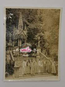 民国上海佘山大教堂风景(与现在大不同,难得的参考资料)