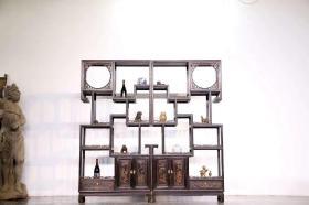 文房~多宝格 制式文雅美观。,整体造型简洁。大气、可置文人书房或客厅、摆放使用、 尺寸:高200宽100厚33榉木。
