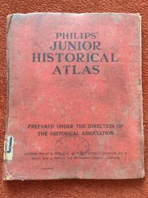 《PHILIPS JUNIOR HISTORICAL ATLAS》(英语:初级历史地图集)1931年,20开硬精装