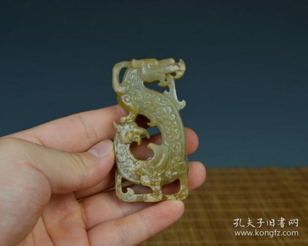 老玉和田玉手工雕刻匠人古董古玩收藏艺术品玉龙璧