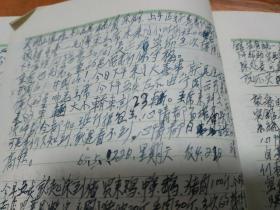 井冈山管理处一位工作人员的日记本原件,毛主席重上井冈山的见证者和记录者,博物馆级红色珍品。