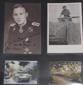 二战德国豹式王牌巴克曼签名照