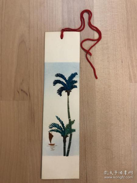 純手工秸稈制作書簽 椰樹(6)
