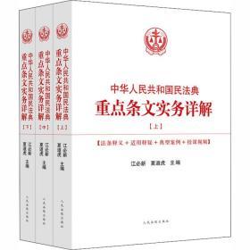 中华人民共和国民法典重点条文实务详解(全3册)
