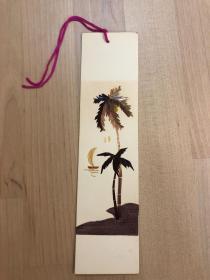 中国出口工艺品书签 纯手工秸秆制作  椰树(2)