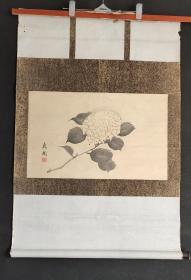 D1577:回流手绘花卉图立轴(日本回流字画.日本回流书画.回流老画.回流老字画精品.真品字画)