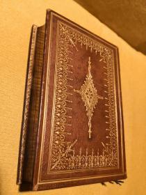 170年历史孤品!绝对大师级隐藏书口画!维多利亚风格全皮精装!司各特爵士诗歌全集!