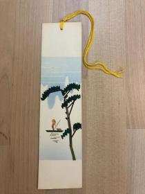 中国出口工艺品书签 纯手工秸秆制作  山水(4)