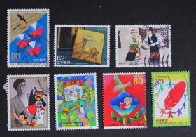 日本邮票----混合邮票(信销票)+