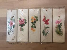 手繪紙質書簽 花卉(10張) Hand-Painted BM-566