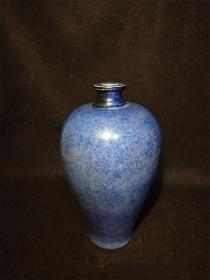 洒蓝釉梅瓶