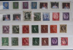 外国邮票-----英国女王28(信销票)
