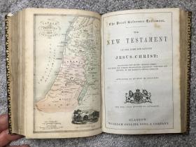1875年的罕见地图版《圣经》英国格拉斯哥印刷出版,HOLY BIBLE