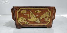 紫铜马曹鎏金炉,重3070