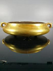 紫铜流金,高4.5公分,口径13公分,重量1195克
