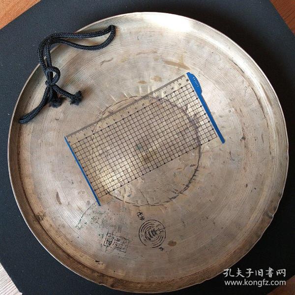 文革武漢銅鑼  高虎音 直徑31厘米  重1公斤 全新全品未使用