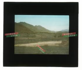 清代民国玻璃幻灯片--民国时期江苏南京,到明孝陵前路过的大坡