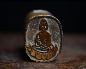 【金石篆刻】老印章古董古玩篆刻佛教佛像图印章功力深厚
