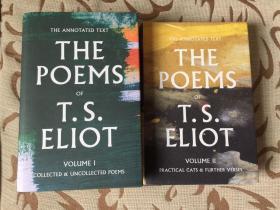 The Poems of T.S.Eliot volume I & II -- 艾略特诗集 精装两卷本  详注版 厚重
