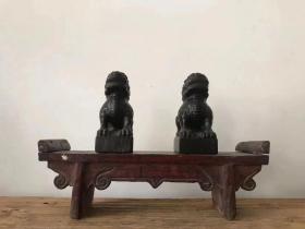 清代青石案头狮 尺寸 9/6/15厘米