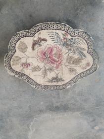 民国凤凰戏牡丹图案纸盒,37*26*13