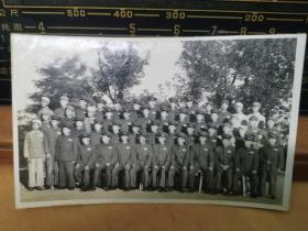 朝鲜志愿军龙岩浦 兵团指挥所工程处全体合影,背面全体合影名字