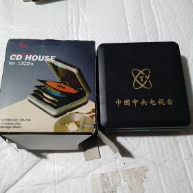 CD  HOUSE for 12 CD ' s  MODER NO . : CD - 129  Compact Disc  Storage Wallet  中國中央電視臺 ,光盤存儲盒。未使用??磮D 裝12碟