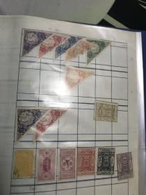 少见古老邮票一页 宗教地方票 具体未知?