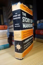 1938年版 房龙经典著作 人类的故事 The Story of Mankind 布面精装毛边 有书衣