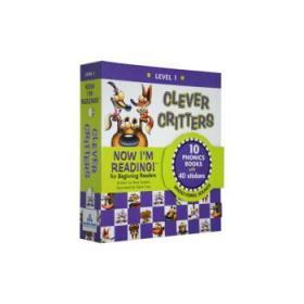 聪明的小怪物 英文原版 Clever Critters Level 1 (10册自然拼读-