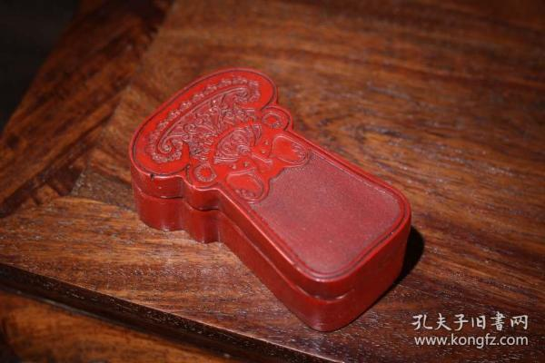 剔紅漆器收納盒長10.5厘米