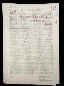 佚名 手稿《自己的思想是治学之本——吴炫访谈录》八开稿纸一份十页HXTX318196