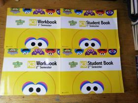 芝麻街英语—K3—Student Book 1、2+K3-Workbook1、2+价值观课程家长宝典K3上下学期+K3-HOMEWORK(合售详见图片)